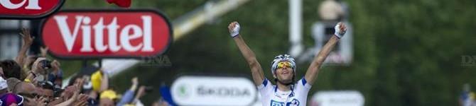 Le Français Thibaut Pinot remporte la 8e étape du TdF