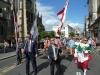 La parade avec les officiels en tête