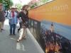 La parade avec la promotion du marché de Saint Martin