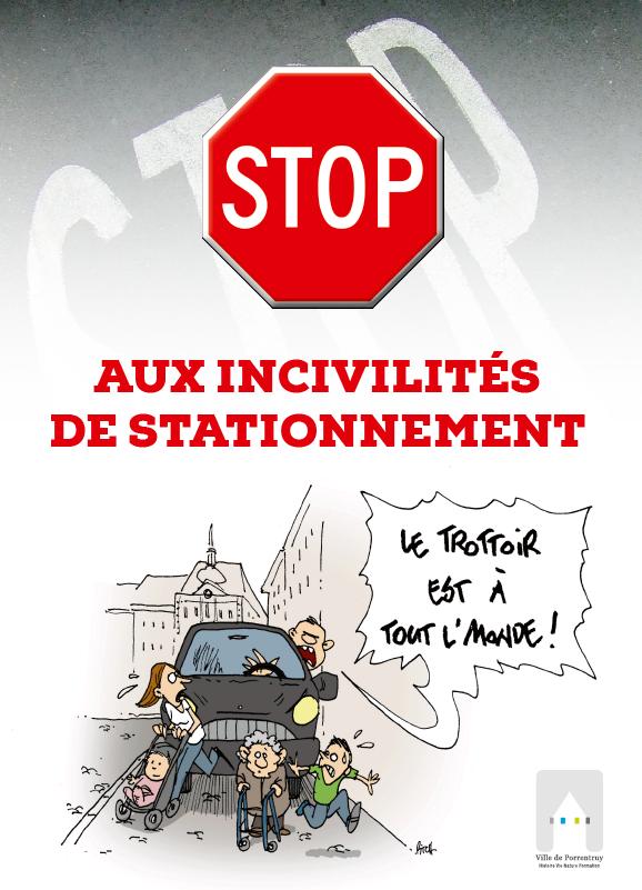 Une campagne de sensibilisation contre les incivilités de stationnement |  Ville de Porrentruy